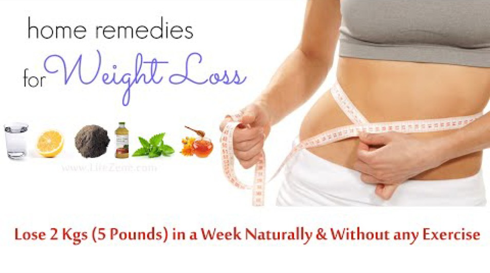 4 Weight Loss Home Remedies to a Get Flat Stomach in a Week
