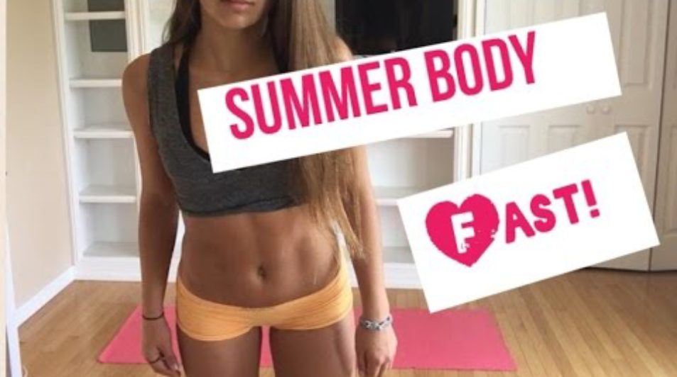 Get your SUMMER BODY FAST: BIKINI BODY WORKOUT: Lean SLIM LEGS, Toned FLAT ABS