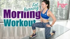 FAT Burning Morning Workout in Pajamas (Burn 300Cals in 15 Mins!)